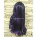 Парик фиолетовый прямой 70см искусственный little pony карнавальный фиолетовый c синим Twilight Sparkle сумеречная искорка