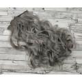 Волосы на заколках набор серые 0906 волнистые трессы из 6 тресс 16 клипс