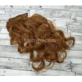 Волосы на заколках набор рыжие №30 волнистые трессы из 6 тресс 16 клипс