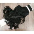Волосы на заколках набор черные волнистые трессы из 6 тресс 16 клипс