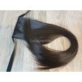 Хвост накладной искусственный темно-коричневый прямой #2/33