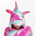 Пижама Единорог звездный фиолетовый/голубой на рост 115-120см кигуруми