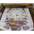 """Картина для рисования стразами"""" Корзина с цветами"""" 68*50 см Частичное заполнение. Круглые камни стекло"""