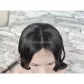 Парик каре 35см с пробором черный прямой имитация роста волос
