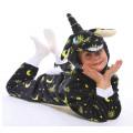 Пижама детская Единорог черные звезды на рост 135-140см Кигуруми