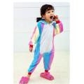 Пижама детская Единорог радужный светлый на рост 135- 140см Кигуруми