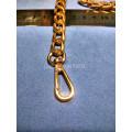 Цепочка-ручка для сумки  110 см 11мм цвет золото  металл с карабинами вес 187гр.