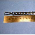 Цепочка-ручка для сумки  110 см 11мм цвет черный   металл с карабинами вес 182гр.