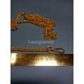 Цепочка-ручка для сумки  120 см 7мм  цвет желтое золото двойное плетение  вес 87гр.