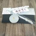 Настенные объемные часы до 100см с полосками Серебро diy сделай сам Art Clock 3d большие