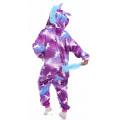 Пижама детская Единорог фиолетовый с рисунком на рост 135-140см Кигуруми