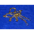 Цепочка-ручка для сумки  120 см 12мм цвет золото сплав  с карабинами вес 75гр.