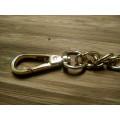 Цепочка-ручка для сумки  120 см 10мм цвет золото  двойное плетение с карабинами 140г