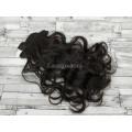 Волосы на заколках набор темно-коричневые №2 волнистые трессы из 6 тресс 16 клипс