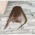 Челка из натуральных волос светло-коричневая