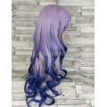Парик фиолетовый с синим волнистый 75см 1763R