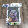 Картина круглыми камнями Бульдог разноцветный 33*24
