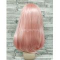 Парик розовый 50см