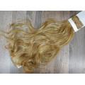 Волосы на заколках набор блонд №27H613 мелирование золотой волнистый трессы из 6 тресс 16 клипс