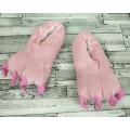Тапки лапы розовые детские