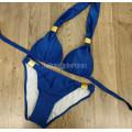 Купальник 17064 светло-синий с золотым декором L