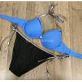 Купальник 1815 Синий лиф плавки на завязках   S