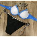 Купальник 1815 Синий лиф плавки на завязках  M
