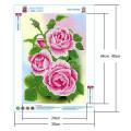 Картина для выкладывания камнями Розовые розы размер 24*34см