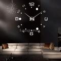 Часы 3d объемные разборные большые и маленькие цифры + круги серебро до 1м