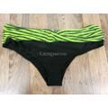 Купальник раздельный 5XL зеленый  белыми полосами