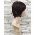 Парик черный из натуральных волос модель М14