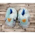Тапочки ЕДИНОРОГ голубые с опушкой размер тапки домашние 35-40