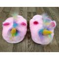 Тапочки ЕДИНОРОГ розовые с челочкой