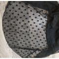 Купальник совместный 4XL черный в виде платья в горошек