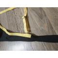 Купальник раздельный XL черный верх и желтые плавки с отделкой
