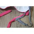 Купальник раздельный XL розовый верх и серые плавки с отделкой