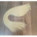 Волосы на заколках набор блонд №613 ровные трессы из 6 тресс 16 клипс