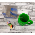 Кружка конструктор с мини-конструктором для детей 350мл зеленая