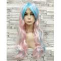 Парик косплей Лолита розовый голубой с хвостами 65см, хвосты 50см