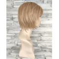Парик короткий блонд с челкой и пробором 20см №325