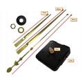 Часовой механизм маленький 16 см минутная стрелка стрелки цвет золото