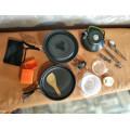 Набор посуды туристический для кемпинга на 3 человека из 13 предметов