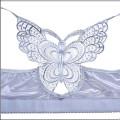 Бюстгальтер 95 D серый с бабочкой с застежкой спереди